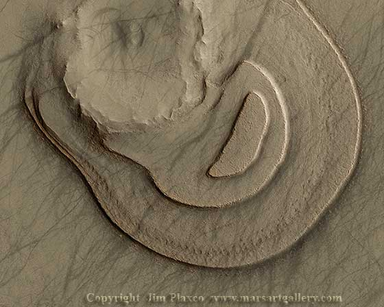 Eroded Martian Landform