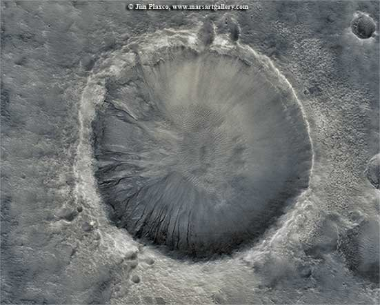 Martian Gullied Crater