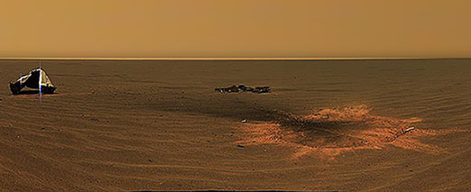 The Mars Exploration Rover Opportunity's Heatshield on the surface of Mars